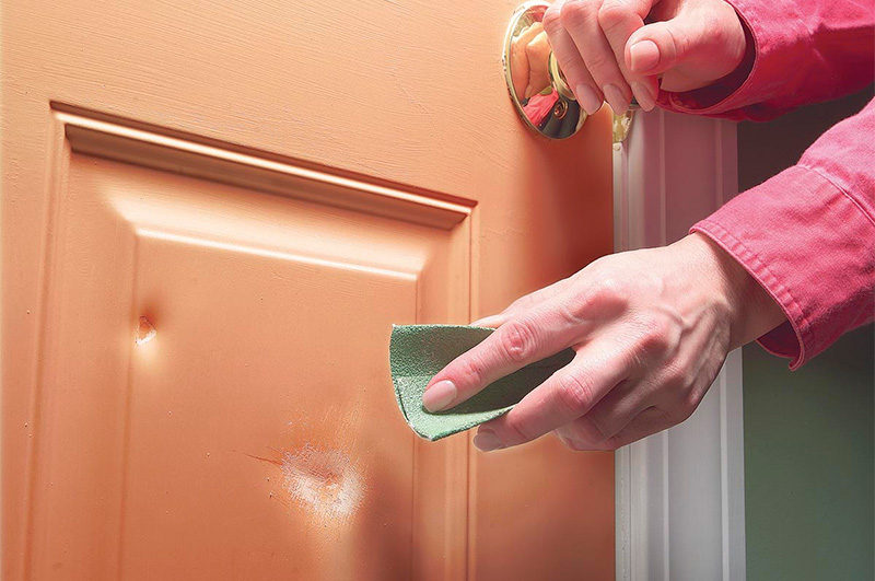 Ошкуривание двери